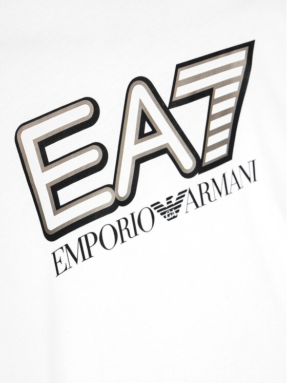 EA7 Emporio Armani EA7 Emporio Armani T-Shirt 6HBT53 BJ7CZ 1100 Biały Regular Fit