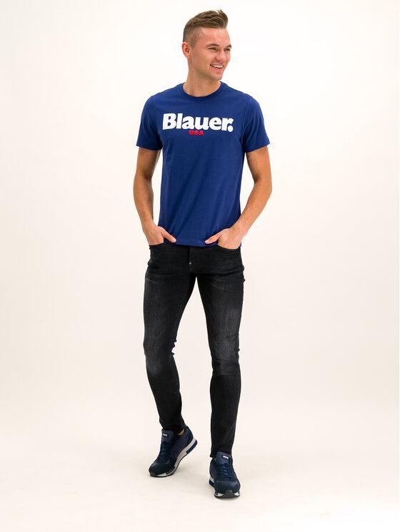 Blauer Blauer T-Shirt 19WBLUH02231 005568 Dunkelblau Regular Fit