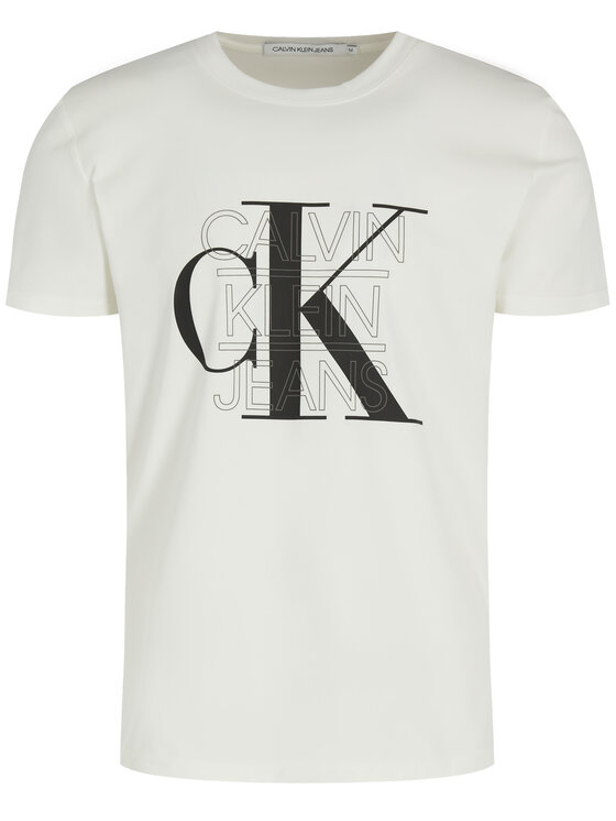 Calvin Klein Jeans Calvin Klein Jeans Tričko CK Graphic J30J314229 Biela Slim Fit