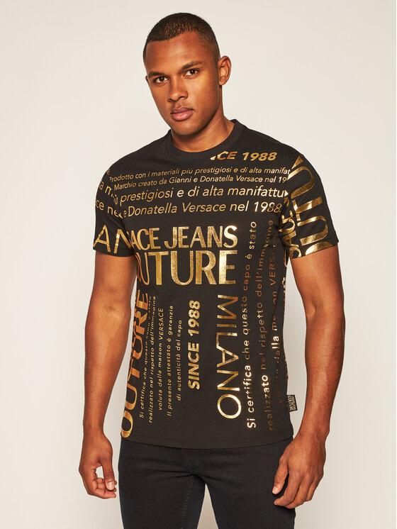 Versace Jeans Couture Versace Jeans Couture T-Shirt B3GZA7TL Černá Regular Fit