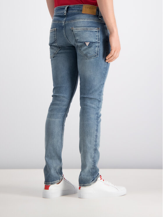Guess Guess Skinny Fit Jeans M93AN1 D3I31 Dunkelblau Skinny Fit