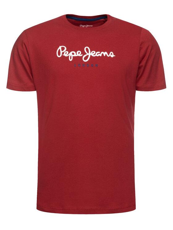 Pepe Jeans Pepe Jeans Póló Eggo PM500465 Bordó Regular Fit