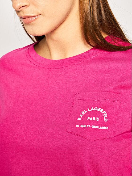 KARL LAGERFELD KARL LAGERFELD Тишърт Address Pocket Tee 201W1703 Розов Regular Fit