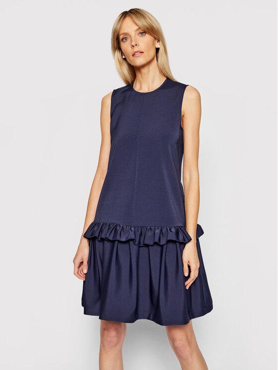 Victoria Victoria Beckham Kasdieninė suknelė Stretch Faille 2221WDR002556C Tamsiai mėlyna Relaxed Fit
