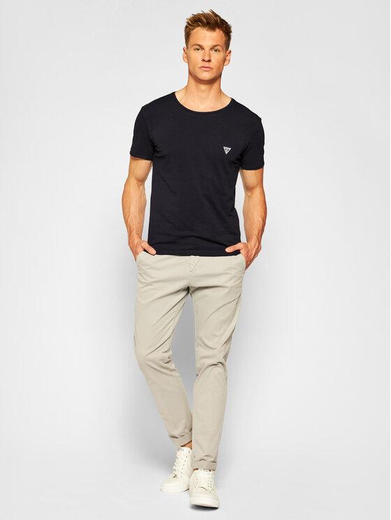 Guess Guess T-Shirt U97M00 JR003 Czarny Slim Fit