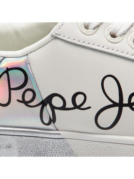 Pepe Jeans Pepe Jeans Сникърси Brompton Mania PLS30864 Бял