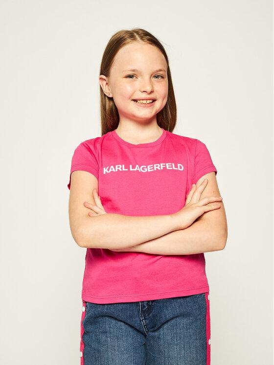 KARL LAGERFELD KARL LAGERFELD T-Shirt Z15222 M Różowy Regular Fit