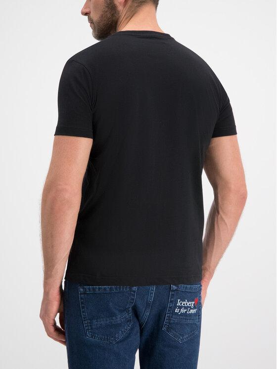 Iceberg Iceberg T-Shirt F014 6331 9000 Μαύρο Slim Fit