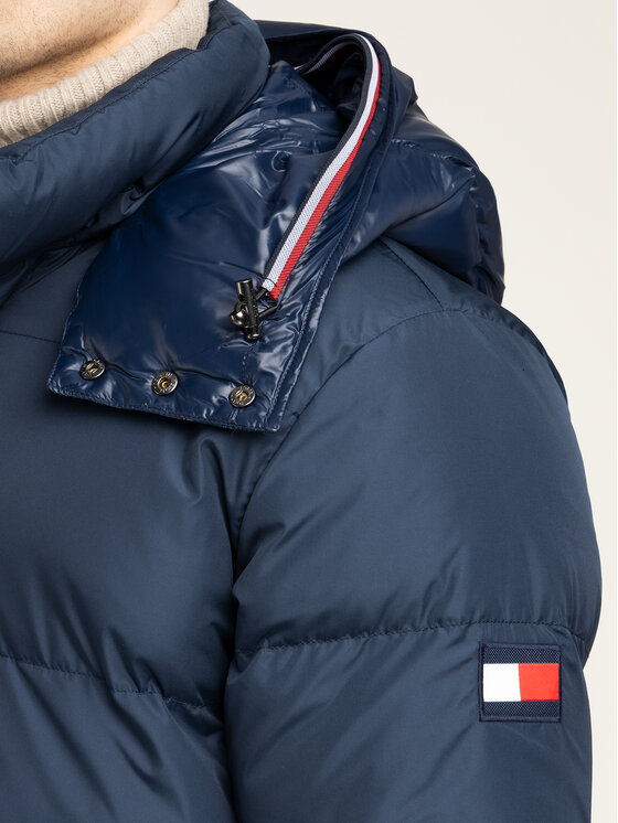 Tommy Hilfiger Tommy Hilfiger Giubbotto piumino Hooded MW0MW11482 Blu scuro Regular Fit