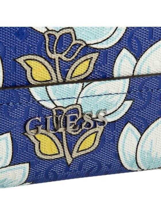 Guess Guess Duży Portfel Damski Delaney (CP) SLG SWCP45 35460 Niebieski