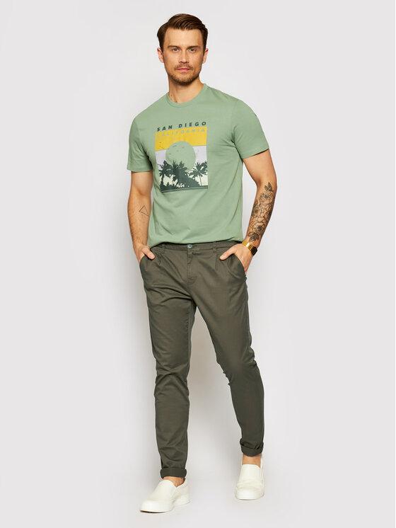 Only & Sons ONLY & SONS Spodnie materiałowe Cam 22016775 Zielony Regular Fit