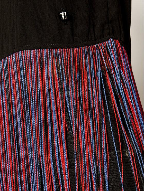Trussardi Jeans Trussardi Jeans Bluză Blouse Regular Fit Fluid Micro Weave 56C00177 Negru Regular Fit