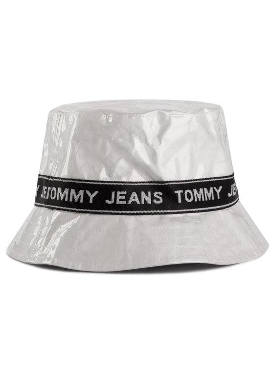 Tommy Jeans Tommy Jeans Καπέλο Bucket Tjw Logo Tape Bucket Hat AW0AW07040 Λευκό