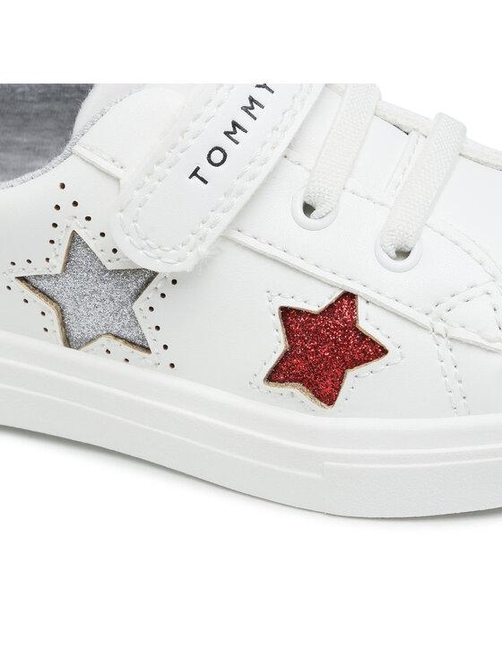 Tommy Hilfiger Tommy Hilfiger Sneakersy Low Cut Lace-Up Sneaker T1A4-31015-0619X256 S Biały