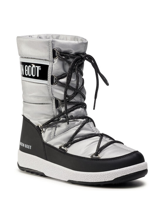 Moon Boot Sniego batai Jr G. Quilted Wp 34051400006 D Pilka
