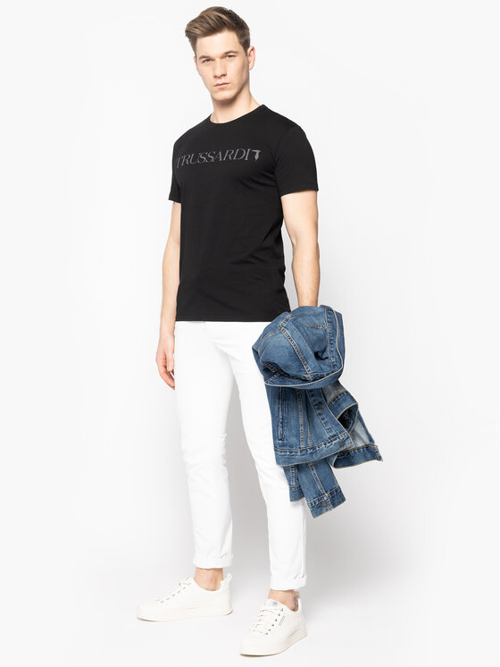 Trussardi Trussardi T-shirt 52T00305 Nero Regular Fit