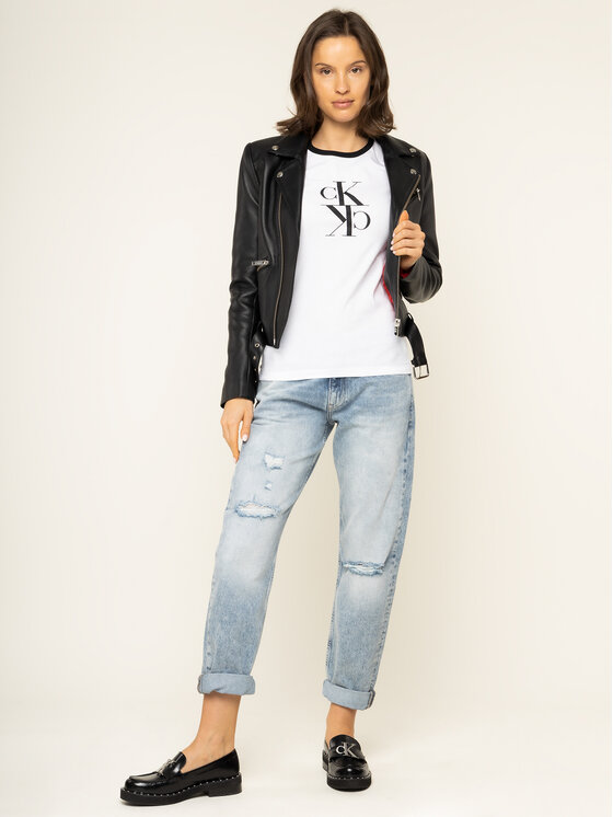 Calvin Klein Jeans Calvin Klein Jeans Bluză J20J213067 Alb Regular Fit