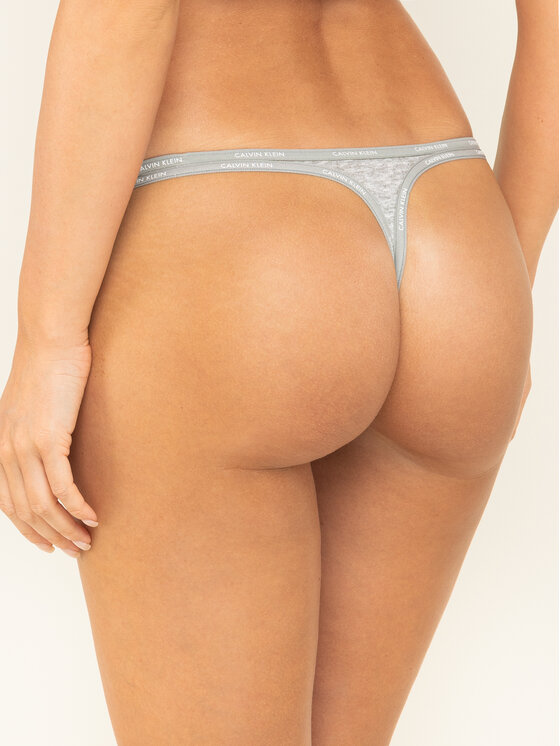 Calvin Klein Underwear Calvin Klein Underwear Stringové nohavičky Youthful Lingerie 000QF4529E Sivá