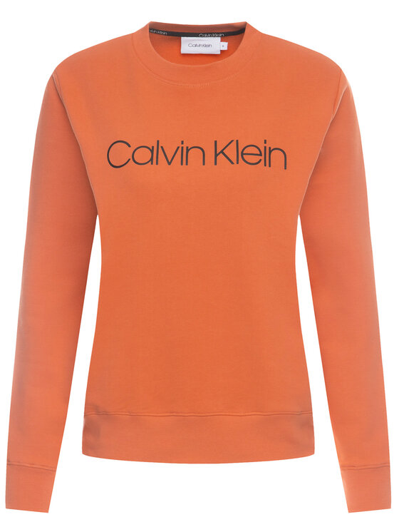 Calvin Klein Calvin Klein Bluza Core Logo K20K201757 Pomarańczowy Regular Fit