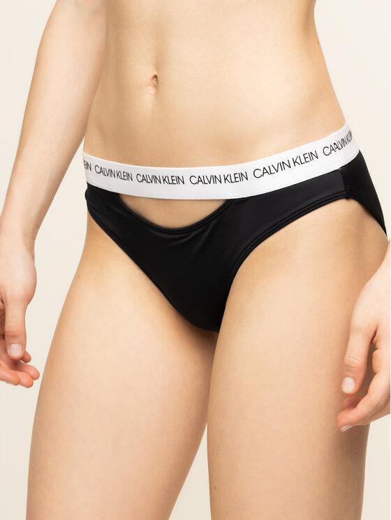 Calvin Klein Swimwear Bikinio apačia Classic KW0KW00658 Juoda