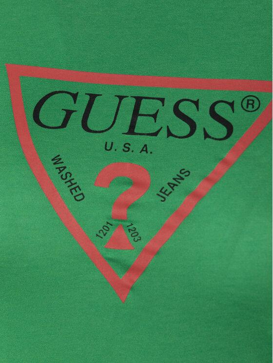 Guess Guess Тишърт W92I82 K7WA0 Зелен Regular Fit