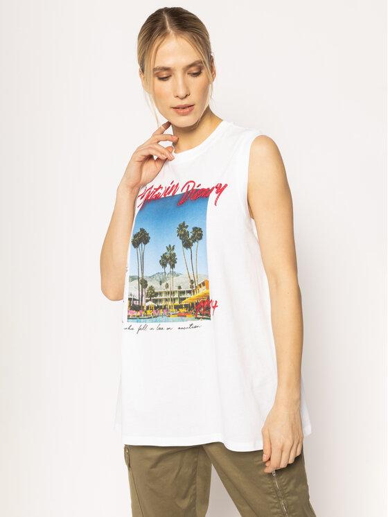 My Twin Marškinėliai 201MT230B Balta Regular Fit