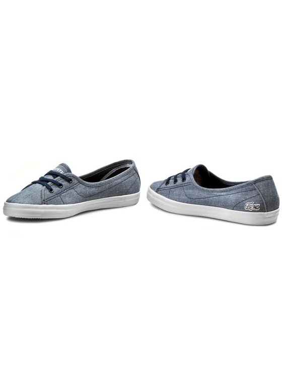 Lacoste Lacoste Sneakers aus Stoff Ziane Chunky Lin Spw 7-29SPW2204DB4 Blau