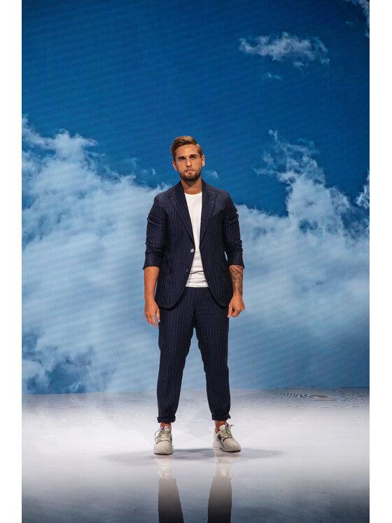 Oscar Jacobson Oscar Jacobson Spodnie materiałowe Nico 52335685 Granatowy Regular Fit