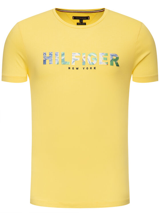 TOMMY HILFIGER TOMMY HILFIGER T-shirt Applique Tee MW0MW10811 Giallo Regular Fit