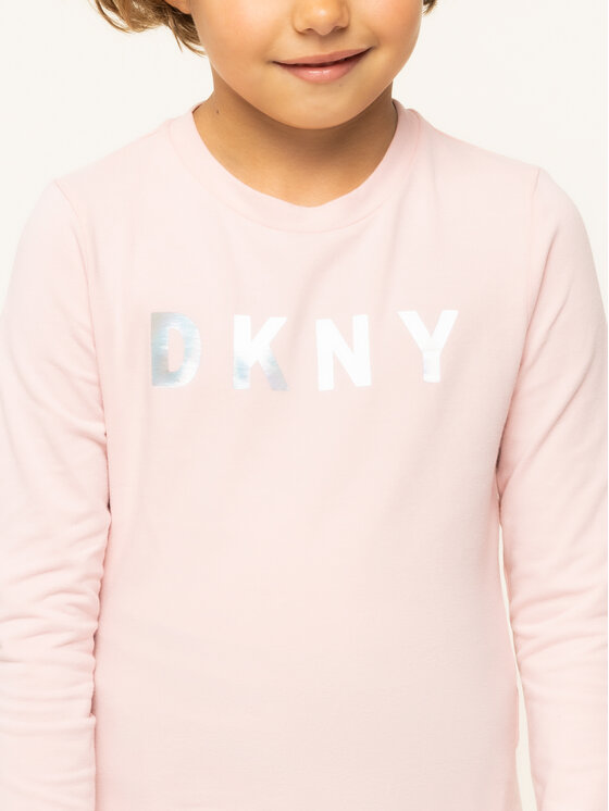 DKNY DKNY Bluzka D35Q20 Różowy Regular Fit