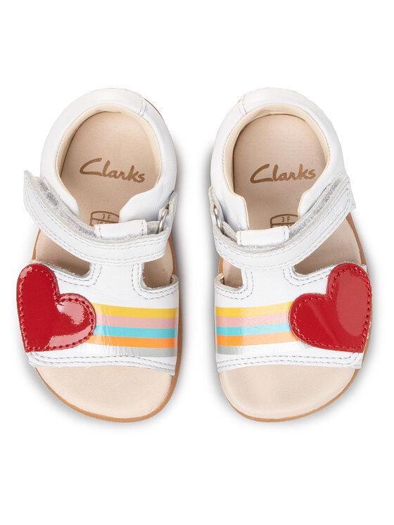 Clarks Clarks Sandały Zora Rain T 261505336 Biały