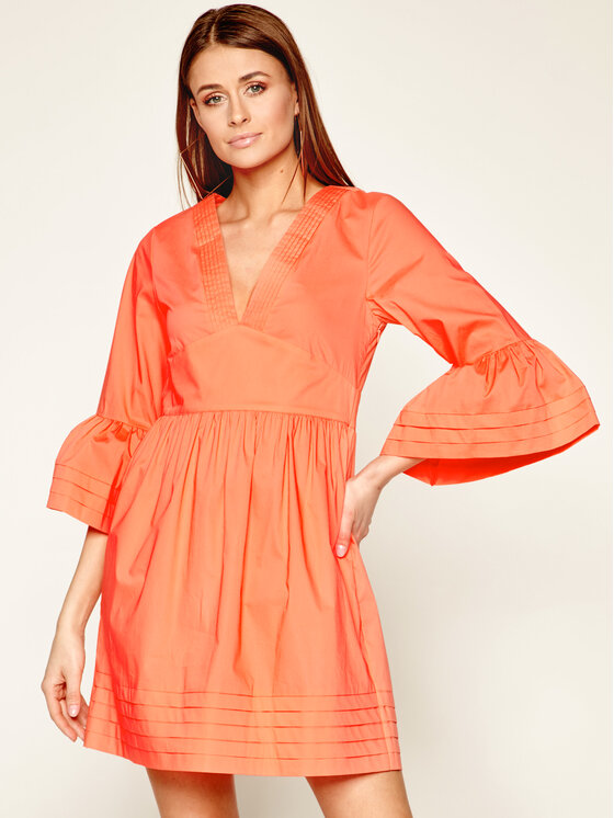 TwinSet TwinSet Sukienka codzienna 201TT2072 Pomarańczowy Regular Fit