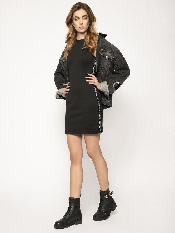 Calvin Klein Jeans Kleid für den Alltag Milano Jersey ...