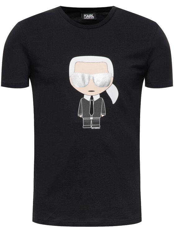 KARL LAGERFELD KARL LAGERFELD T-Shirt 755061 592251 Czarny Regular Fit