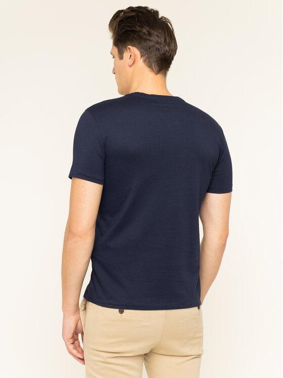 Polo Ralph Lauren Polo Ralph Lauren Marškinėliai 710671453091 Tamsiai mėlyna Custom Slim Fit