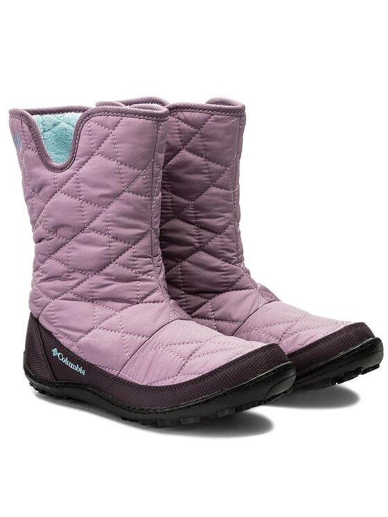 Columbia Columbia Stivali da neve Youth Minx Slip Omni-Heat Waterproof BY1329 Viola