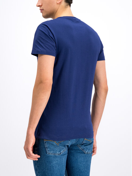 Versace Jeans Versace Jeans Tricou B3GTB76R Bleumarin Slim Fit