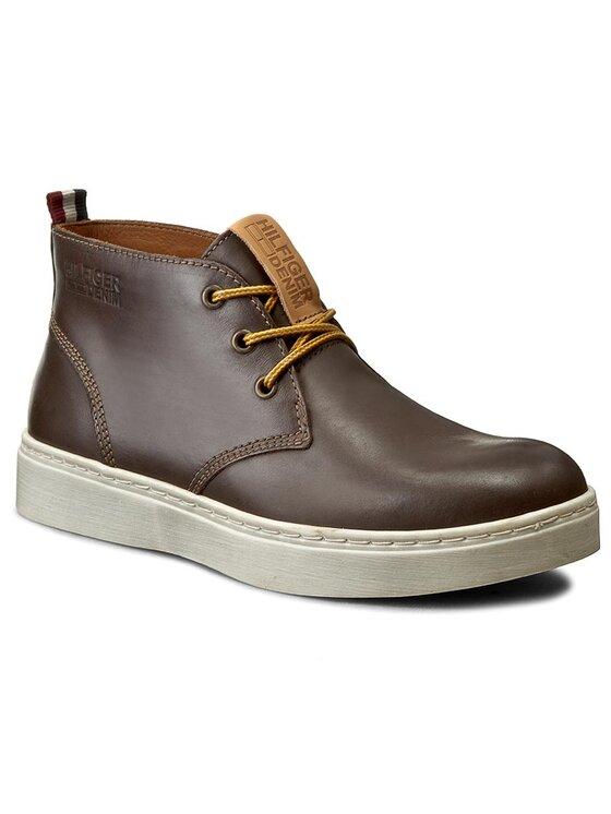 Tommy Hilfiger Tommy Hilfiger Kotníková obuv DENIM Webster 2A1 EM56821838 Hnědá