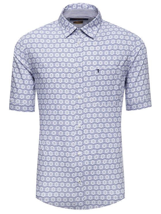 Trussardi Trussardi Košeľa Printed 52C00130 Modrá Close Fit