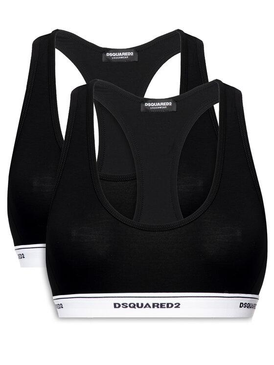 Dsquared2 Underwear Dsquared2 Underwear Súprava 2 podprseniek Bra Top D8X521800 Čierna