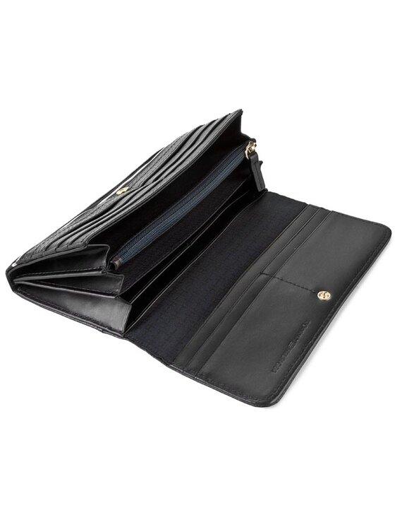 Tommy Hilfiger Tommy Hilfiger Голям дамски портфейл Rosanna Large E/W Wallet AW0AW00676 Черен