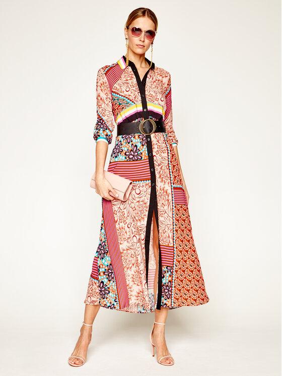 Pinko Pinko Marškinių tipo suknelė Granetti 20201 BLK01 1G14U5. 7939 Spalvota Regular Fit