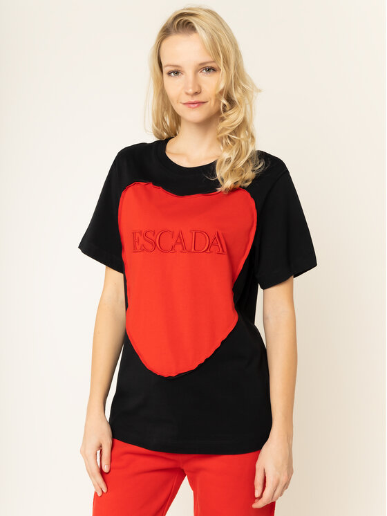 Escada Sport Escada Sport T-Shirt RITA ORA Eherz 5032171 Czarny Regular Fit