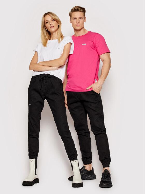 Diamante Wear Jogger kelnės Unisex Jeans V3 5344 Juoda Regular Fit