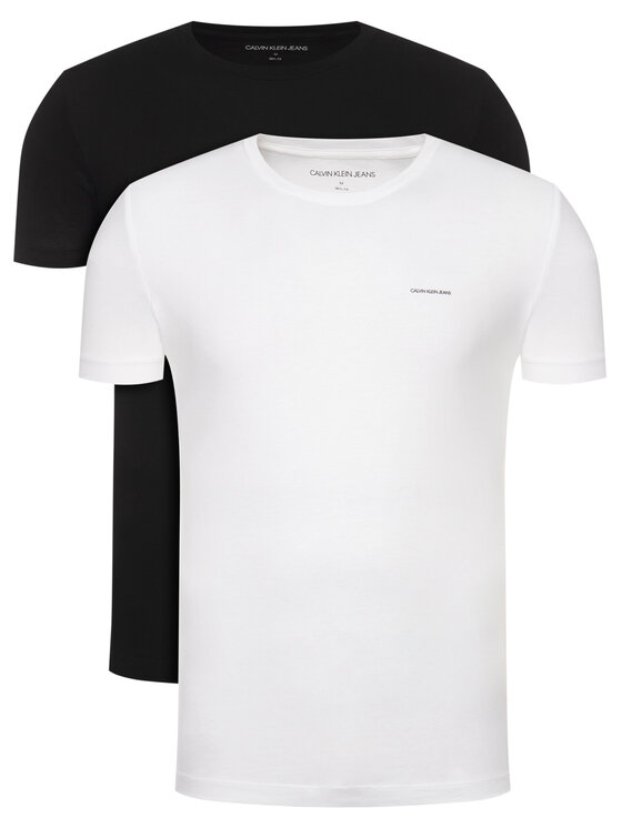 Calvin Klein Jeans Calvin Klein Jeans Komplet 2 t-shirtów J30J315194 Kolorowy Slim Fit