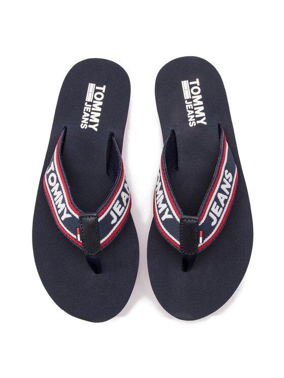 Tommy Jeans Tommy Jeans Žabky Pop Webbing Mid Beach Sandal EN0EN00472 Tmavomodrá