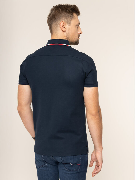 Tommy Hilfiger Tailored Tommy Hilfiger Tailored Polo MERCEDES-BENZ Logo TT0TT05788 Bleu marine Regular Fit