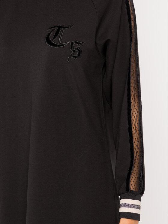 TwinSet TwinSet Sukienka codzienna 192TP2443 Czarny Regular Fit