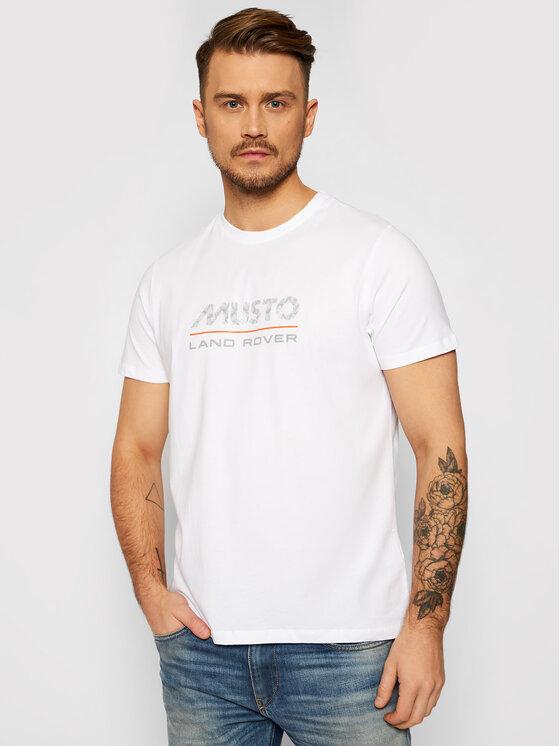 Musto Marškinėliai Logo 84008 Balta Regular Fit