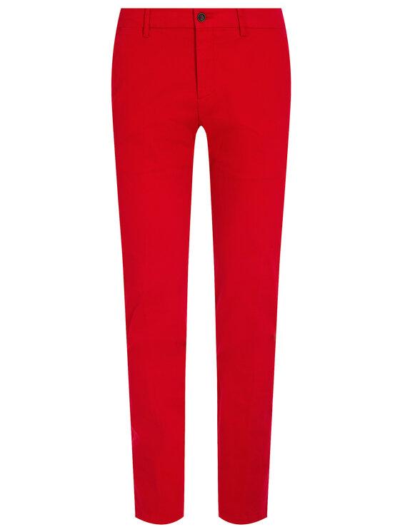 Tommy Hilfiger Tailored Tommy Hilfiger Tailored Spodnie materiałowe Flex TT0TT06924 Czerwony Slim Fit